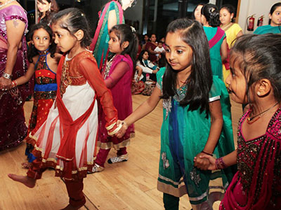 Kids enjoying Navratri